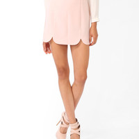 Scalloped Miniskirt