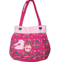 Large Multicolored Heart Bow Kawaii Purse Tote