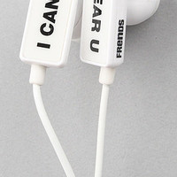 The Clip I Can&#x27;t Hear U Ear Buds in White