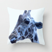 Giraffe Throw Pillow by Veronica Ventress | Society6