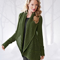 Womens Sweaters | Pointelle Sweater - Gaiam
