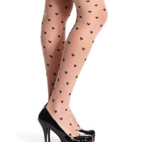 Charlotte Russe - Mini Heart Sheer Tight