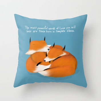 Words of Love Throw Pillow by Dale Keys | Society6
