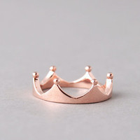 ROSE GOLD CROWN RING JEWELRY CROWN SHAPED RING PRINCESS CROWN RING from Kellinsilver.com - Fashion Jewelry Online