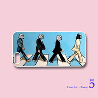 The Beatles Abbey Road , Star Wars -- iphone 5 Case,iPhone 4  case  in durable black or white plasic and silicone