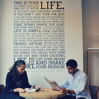 Holstee Manifesto Wall Decal | HOLSTEE