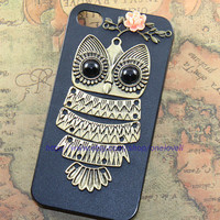 Cute Flower Owl iPhone Case