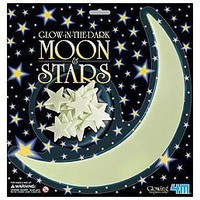 4M Glow-In-The-Dark Stars moon and stars pack of 10