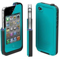 NEW TEAL LIFEPROOF CASE FOR IPHONE 4 4S life proof water resistant