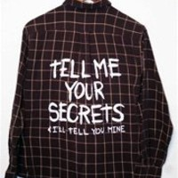 TELL ME YOU SECRETS Vintage Flannel Shirt - MEDIUM - 00391