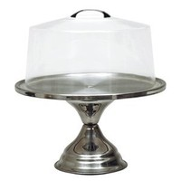 NEW, Cake Stand, Cake Display, Pie Display, Pastry Display, Stainless Steel Base, Includes Clear Acrylic Lid