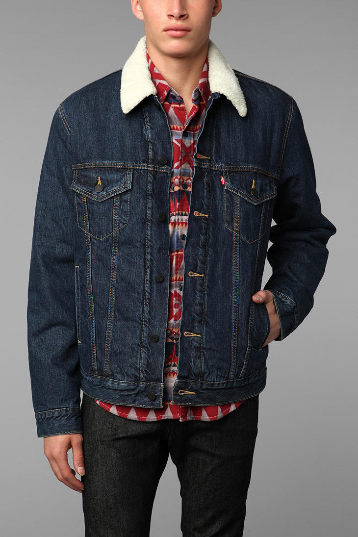 levis sherpa trucker jacket from urban outfitters dude bro. Black Bedroom Furniture Sets. Home Design Ideas