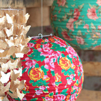 Floral World Lantern - $18.00 : ThreadSence, Women&#x27;s Indie &amp; Bohemian Clothing, Dresses, &amp; Accessories