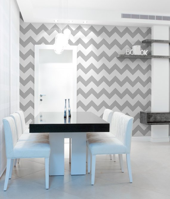 Chevron wall stencil large stencil to from for Chevron template for walls