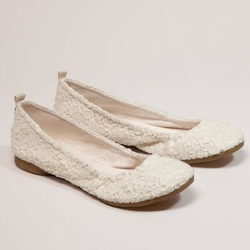 AEO Crocheted Lace Ballet Flat   American Eagle Outfitters