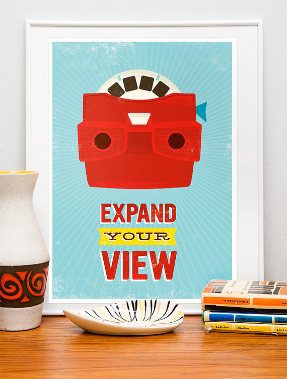 Pop art Retro Poster Print midcentury art Viewmaster by handz