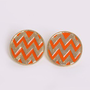 Oversized Chevron Stud Earrings @ FrockCandy.com