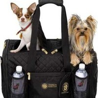 Amazon.com: Sherpa American Kennel Club Double Sided Dog Carrier Bag for 2 Pets, Black: Pet Supplies