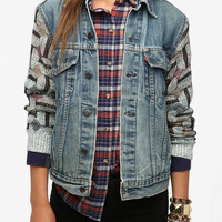 Urban Renewal Sweater- Sleeve Denim Jacket