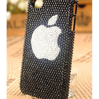 iPhone4 3GS Crystals Apple Logo Protective Case Cover by buymegift