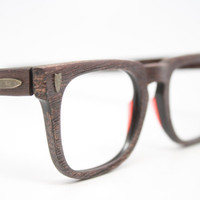 NOS beautiful Redwood vintage men&#x27;s eyeglasses Arnel Johnny Depp 60&#x27;s