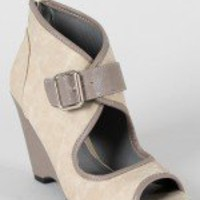 Qupid Isaac-90X Peep Toe Wedge Bootie-$26.90