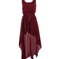 LOVE Aubergine Asymmetrical Maxi Dress - Love