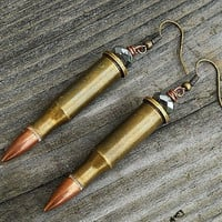 Beaded Bullet Casing Earrings by InkandRoses13