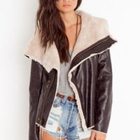 Draped Aviator Jacket - NASTY GAL