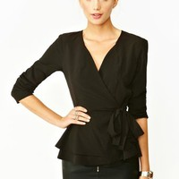 Tied Peplum Jacket
