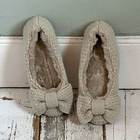 verity cream wool slippers by anusha | notonthehighstreet.com