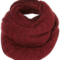 Two Tone Zigzag Snood