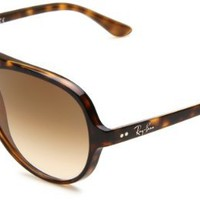 Ray-Ban RB4125 Cats 5000 Sunglasses 59 mm,Tortoise/Brown