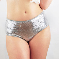 Silver Sequin panties Many color options lingerie knickers