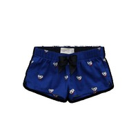 Cute Koala Bear Darling Island Flannel Sleep Shorts