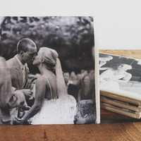 Personalized Photos Ceramic Coasters Set of 4, house warming gift, newly wed gift, wedding gift