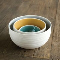Pigeon Toe » Shop » KITCHEN & TABLETOP » Scribble Nesting Bowls