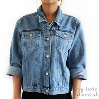 CUSTOMIZABLE Denim Jacket (Size S/M)