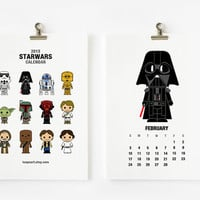 Cute Star wars 2013 Calendar