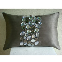 Crystal Delight Oblong / Lumbar Throw Pillow by TheHomeCentric