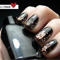 Glitter Polish Faded to Black