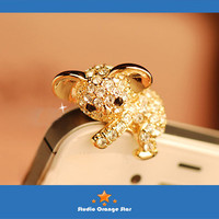 1PC Bling Crystal Cute Koala Bear Earphone Charm Cap Anti Dust Plug for iPhone 5, iPhone 4, Samsung S3