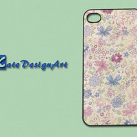 iphone 4 case/iphone 4s case - colorful beautiful flowers