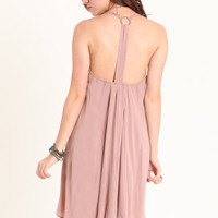 Secret Key Dress in Dusty Pink