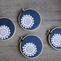 Christmas Ornaments Embroidery Hoops Winter Snowflakes