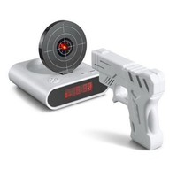 Gun O&#x27;Clock Shooting Alarm clock (White)