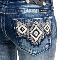 Miss Me Aztec bootcut jeans