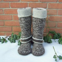Crochet Boots Custom Made by BeautifulPurpose on Etsy