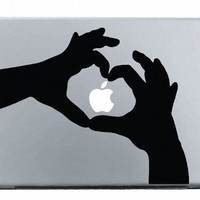 Heart Hands MacBook Decal Mac Apple skin sticker