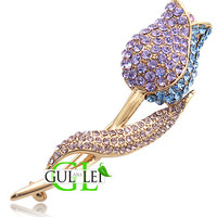 Rose Diamond Brooch - GULLEITRUSTMART.COM